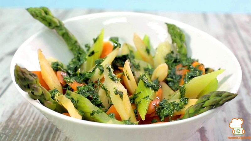 Видео рецепт: Зеленчук подготвен на пареа