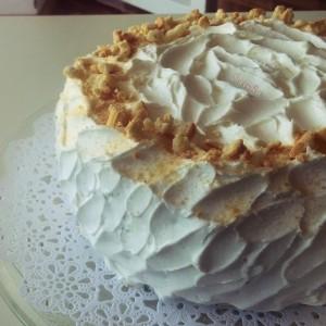 Банана-ванила крем торта