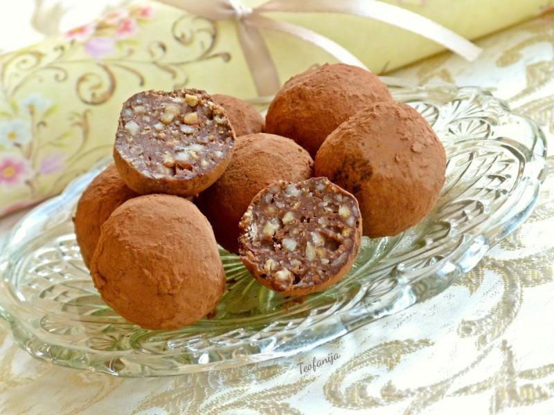 Бомбици со кикирики – truffles chocolate