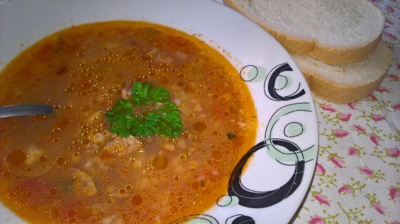 Супа од пилешки џигер со тарана