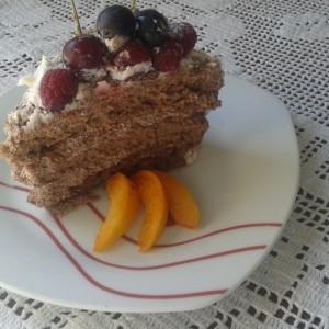Чоколадна торта со овошје