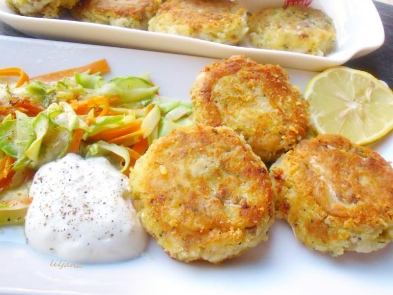 Полпети од ослич и компир (посно)