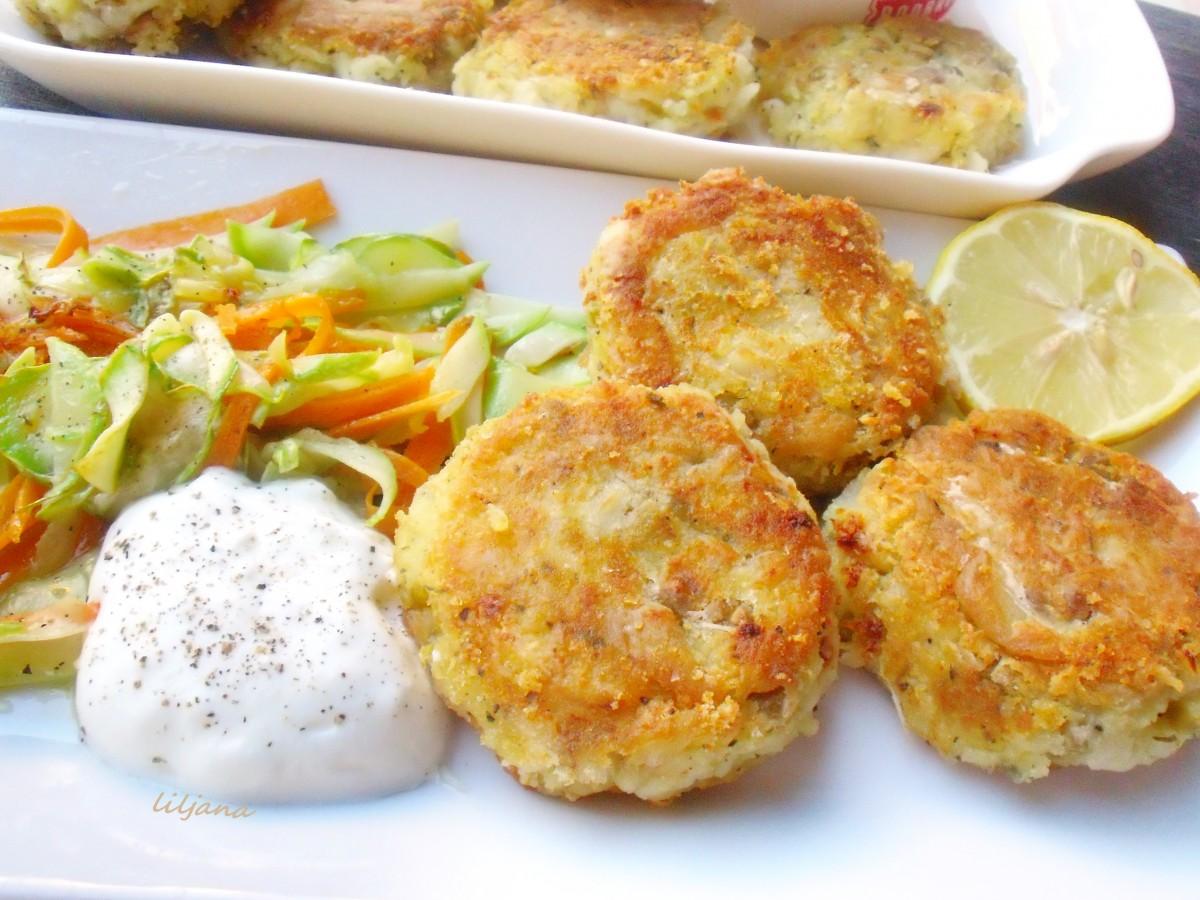 Полпети од ослич и компир  посно
