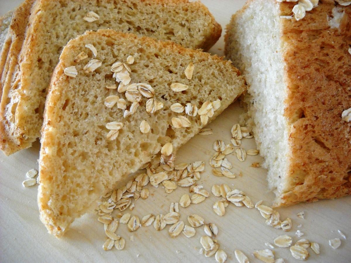 Леб со овесни снегулки  рецепт за пекач