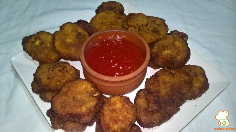 Чикен нагетс со крем сирење (chicken nuggets)