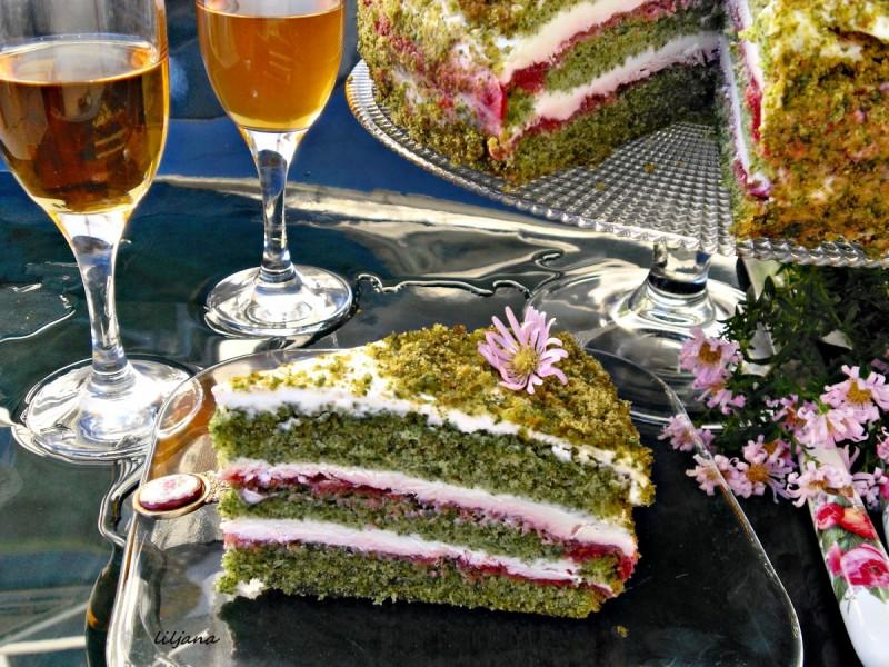 Спанаќ торта со малини (Јубилеен 1000ти рецепт)