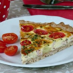 Тарт со моцарела, печеница и шери домати (хроно)