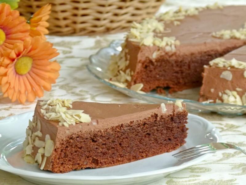 Чоколадна бадем торта (без брашно)