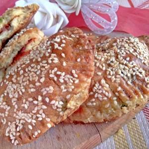 Печени панцероти со праз и урда (изварка)