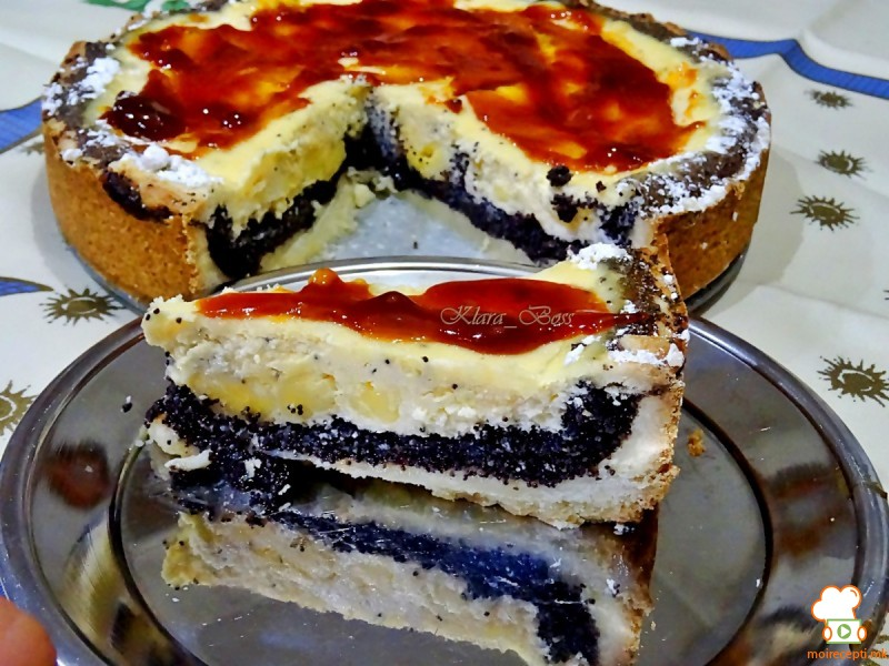 Ванила торта со афион и мармалад