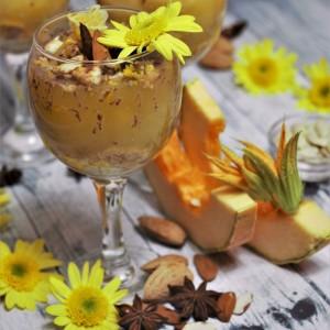 Пудинг десерт со тиква и бадеми