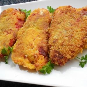 Печени пиперки, похувани во корнфлекс