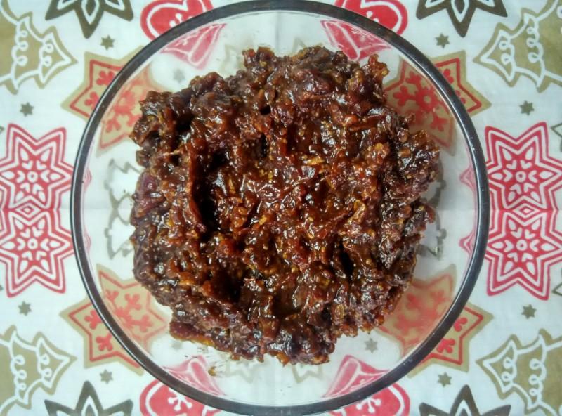 Здрав пудинг од урми и мандарина (хроно, посно, веган, сурово)