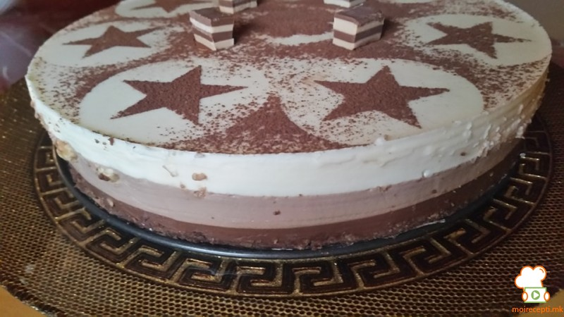 Торта со три вида чоколадо