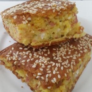 Шарена солена торта