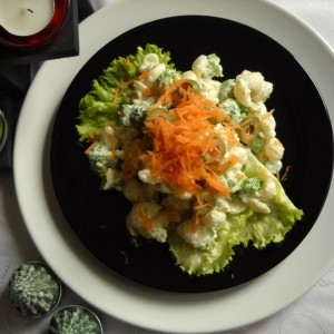 Зелена макарони салата