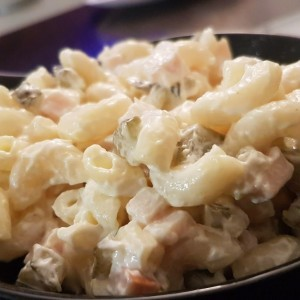 Крем салата со макарони