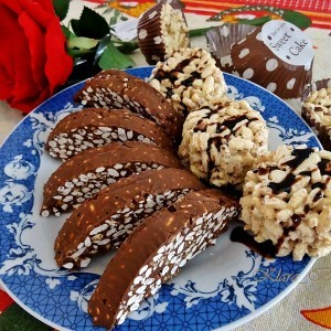 Црно и бело чоколадо со ориз
