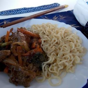 Јунешко месо со зеленчук