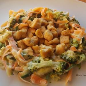 Брз ручек со пилешко и зеленчук