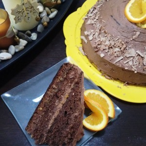 Чоколадна портокал торта