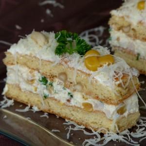 Солена торта со кикирики