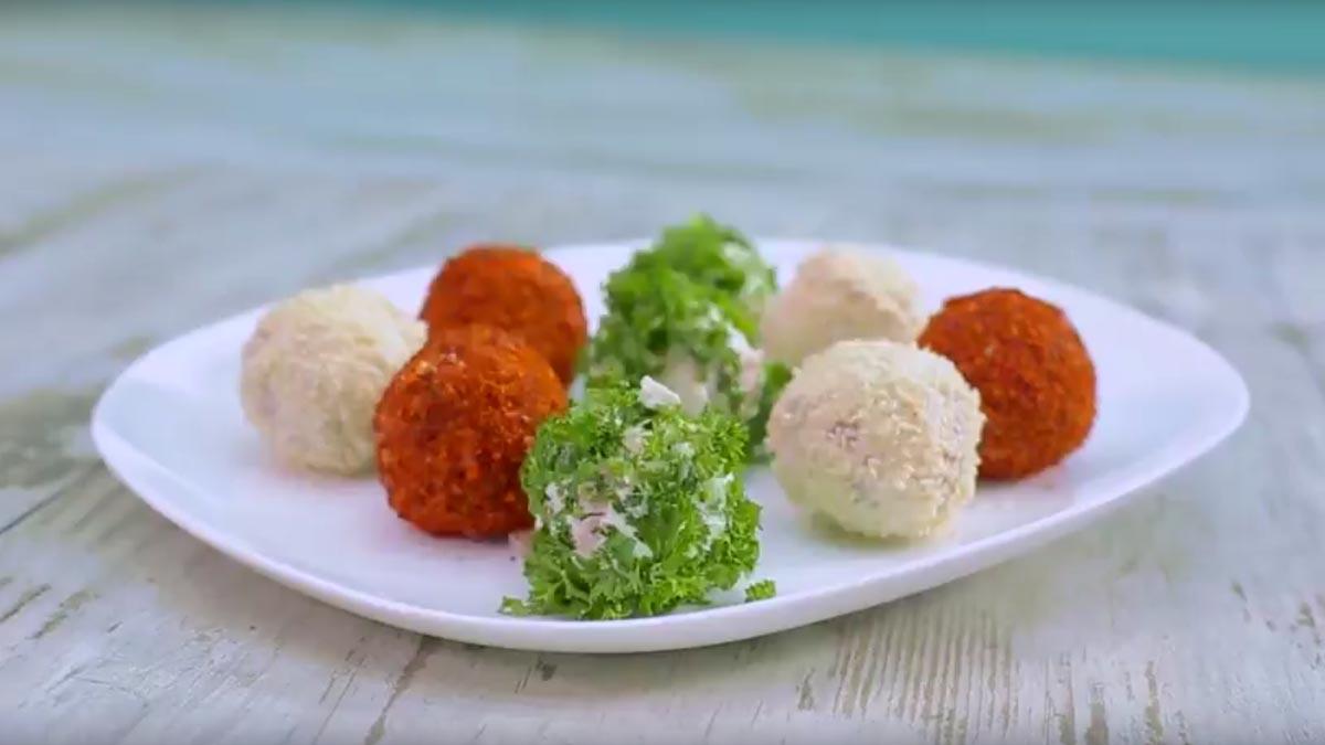 Видео рецепт  Шарени солени бомбици