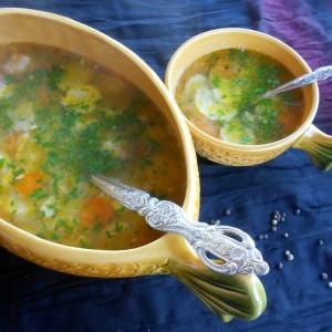 Домашна супа од икра и црвена пастрмка (рибља чорба)