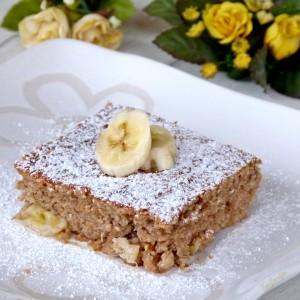 Банана колач со лешници (посно)