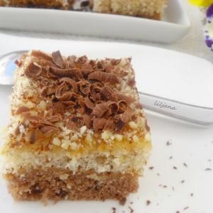 Едноставен колач со мармалад (посно)