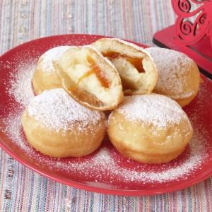 Крофни со мармалад од кајсии (посно)