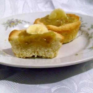 Мини тарт со џем од банани (посно)