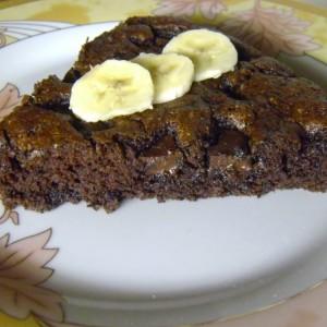 Банана браунис (посно)