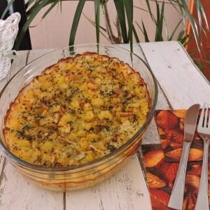 Тава со компир и ориз (посно)