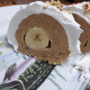 Ролат со банана (посно) (без печење)
