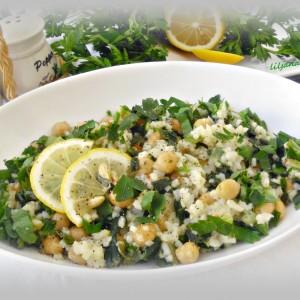 Прилог од млад кромид, наут и ориз
