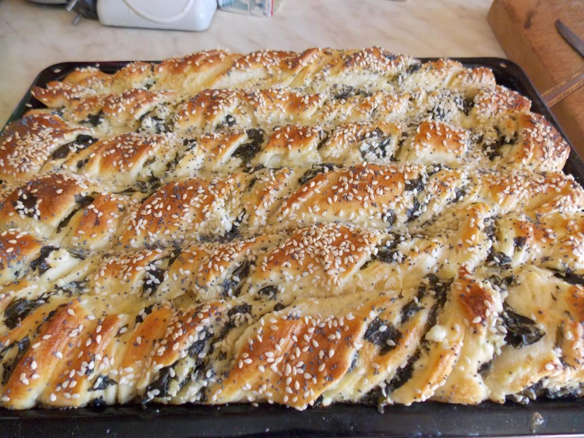 Солено пециво со штавеј  пајажина тесто