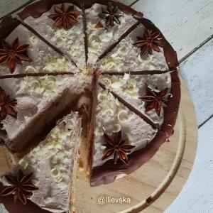 Чоко рабарбер торта