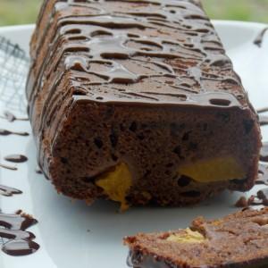 Какао колач со праски