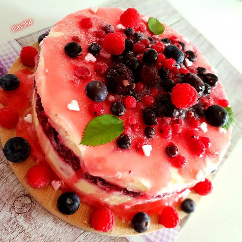 Овошна фантазија (ледена торта )