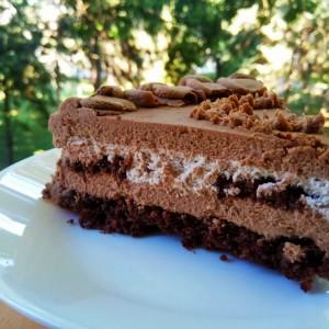 Сладолед браунис торта