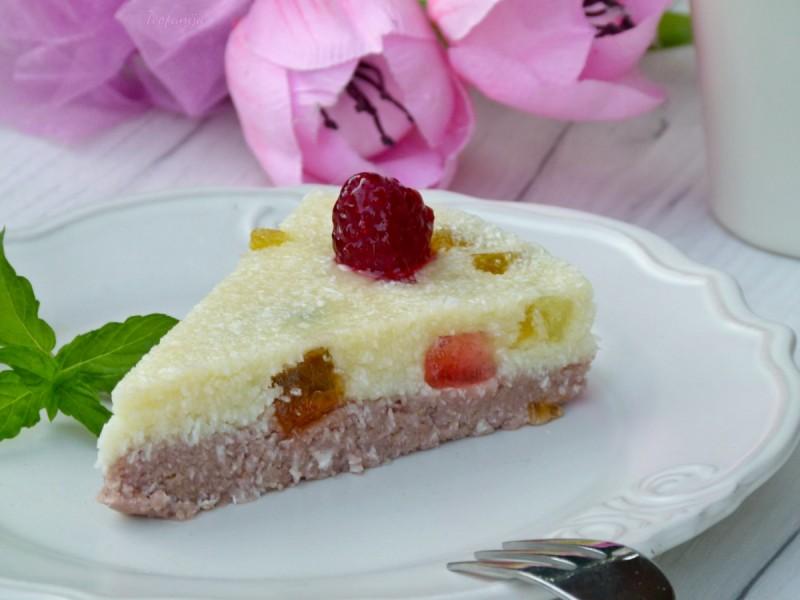Уникатен десерт  со малини и кокос (посно)