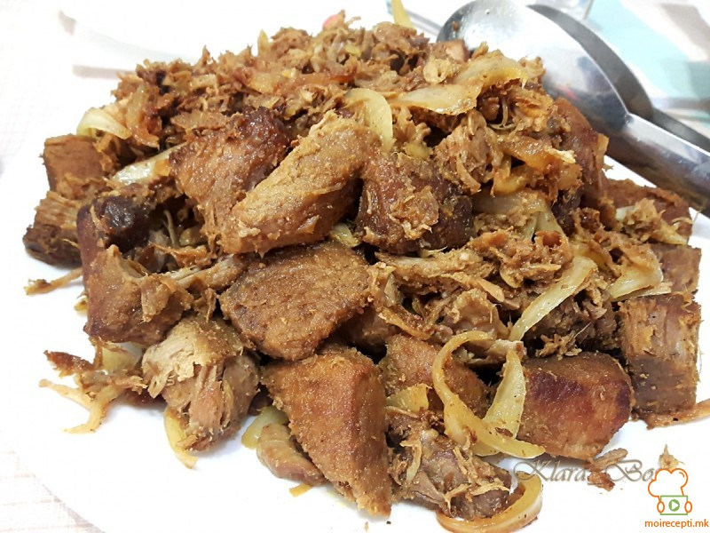 Тресено свинско (шоферски рецепт)