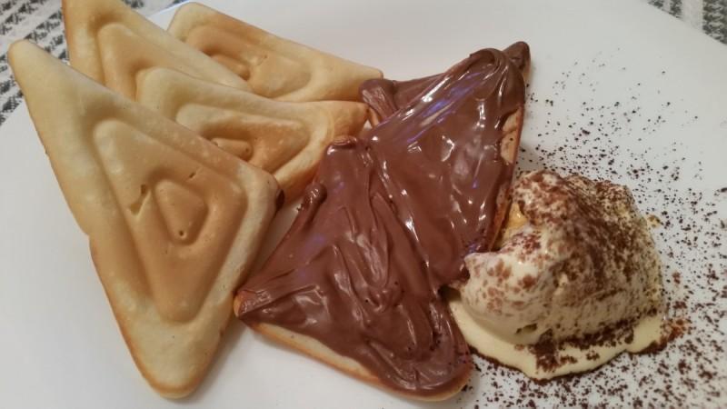 Вафли со кафеав шеќер