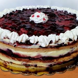 Брза овошна - ванила торта