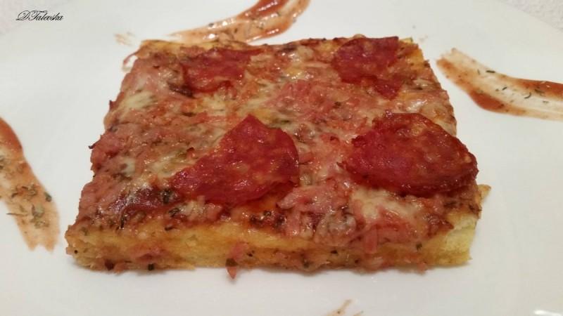 Пица со пченично и пченкарно брашно