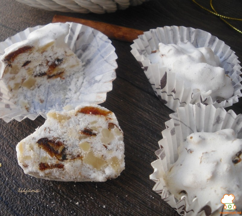 Суви слатки од белка (без печење)