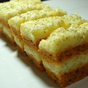 Солена торта со ајвар (посно)
