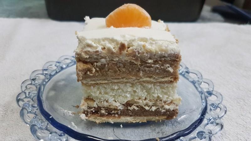 Крем бисквит торта со три вкуса (без печење)