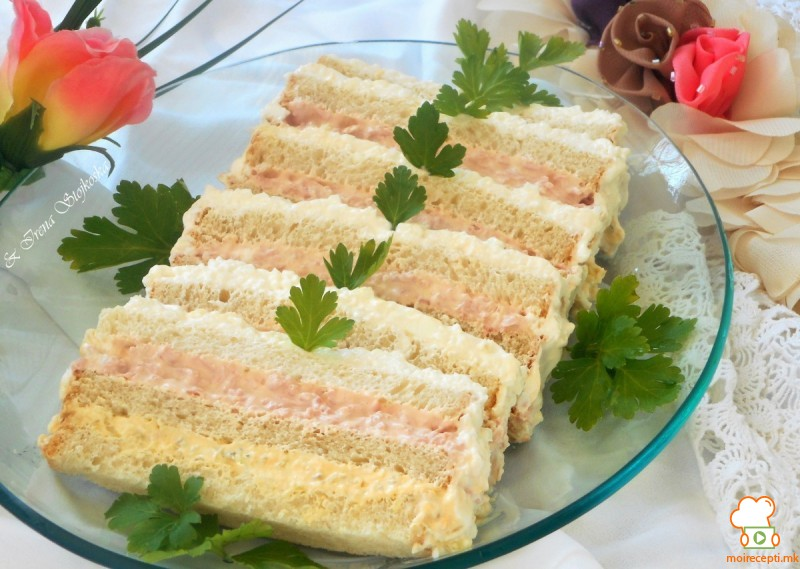 Солена торта со тост леб (без печење)